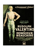 MONSIEUR BEAUCAIRE, Rudolph Valentino, 1924 Poster