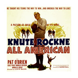 KNUTE ROCKNE ALL AMERICAN, Pat O'Brien, 1940 Prints