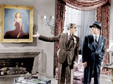 LAURA, from left: Gene Tierney, (in painting), Clifton Webb, Dana Andrews, 1944. Prints