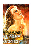IN PERSON, US poster, Ginger Rogers, 1935. Print