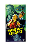 HOUSE OF SECRETS, US poster, Muriel Evans (hand over mouth),  1936 Prints