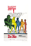 DR. NO, US poster, Sean Connery, 1962 Print