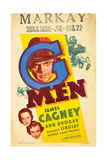 G-MEN, Ann Dvorak, Margaret Lindsay, James Cagney on window card, 1935 Posters