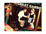 THE GREAT GABBO, left: Erich von Stroheim on lobbycard, 1929 Poster