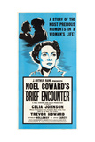 BRIEF ENCOUNTER, Celia Johnson on US poster art, 1945. Art