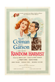 RANDOM HARVEST, Greer Garson, Ronald Colman, 1942 Reproduction giclée Premium