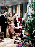 MIRACLE ON 34TH STREET, from left: John Payne, Maureen O'Hara, Natalie Wood, Edmund Gwenn, 1947. Photo