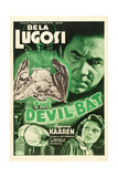 THE DEVIL BAT, Bela Lugosi (top), Suzanne Kaaren (bottom), 1940 Print