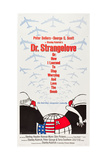 DR. STRANGELOVE (aka DR. STRANGELOVE OR: HOW I LEARNED TO STOP WORRYING AND LOVE THE BOMB), 1964 Poster