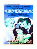 THE CRIME OF MONSIEUR LANGE (aka LE CRIME DE MONSIEUR LANGE) Posters