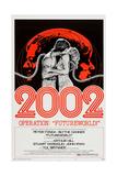FUTUREWORLD, l-r: Peter Fonda, Blythe Danner on poster art, 1976. Affiches