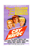 CRY 'HAVOC', US poster, from left: Ann Sothern,  Margaret Sullavan, Joan Blondell, 1943 Plakater
