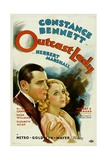 OUTCAST LADY, from left: Herbert Marshall, Constance Bennett, 1934. Prints