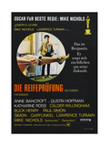 The Graduate (Die Reifeprufung), German poster, Dustin Hoffman, 1967 Prints