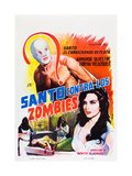 SANTO CONTRA LOS ZOMBIES (aka INVASION OF THE ZOMBIES Posters