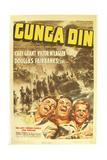 GUNGA DIN, Cary Grant, Victor McLaglen, Douglas Fairbanks Jr., 1939, poster art Prints