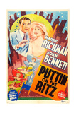 PUTTIN' ON THE RITZ, US re-release poster art, from left: Harry Richman, Joan Bennett, 1930 Posters