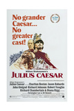 JULIUS CAESAR, US poster, from left: John Gielgud, Charlton Heston, 1970 Posters