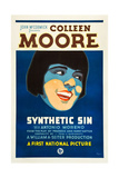 SYNTHETIC SIN, Colleen Moore on poster art, 1929. Prints