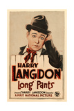 LONG PANTS, Harry Langdon on window card, 1927. Poster