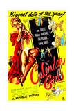 CALENDAR GIRL, US poster, Jane Frazee, 1947 Prints