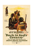 BACK TO GOD'S COUNTRY, Nell Shipman on US poster art, 1919 Posters