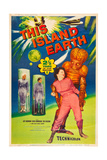 THIS ISLAND EARTH, Jeff Morrow, Rex Reason, Faith Domergue, 1955, poster art Posters