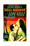 HELL HARBOR, US poster art, from left: John Holland, Lupe Velez, 1930 Posters