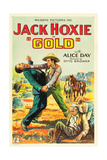 GOLD, standing right: Jack Hoxie, lower right: Alice Day on US poster art, 1932. Art