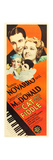 THE CAT AND THE FIDDLE, top l-r: Ramon Novarro, Jeanette MacDonald on insert poster, 1934. Prints