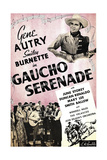 GAUCHO SERENADE, top right and bottom center: Gene Autry on window card, 1940 Prints