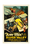 SILVER VALLEY, Tom Mix, Dorothy Dawn, 1927, crash Print