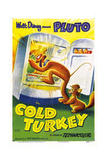 COLD TURKEY, US poster, Pluto (the dog), Milton (the cat), 1951. Posters