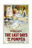 THE LAST DAYS OF POMPEII, (aka GLI ULTIMI GIORNI DI POMPEII), poster art, 1913 Prints