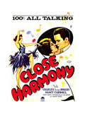 CLOSE HARMONY, inset from left: Nancy Carroll, Charles 'Buddy' Rogers on window card, 1929. Poster