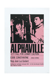 ALPHAVILLE, Swedish poster, from left: Anna Karina, Eddie Constantine, 1965 Prints