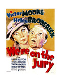WE'RE ON THE JURY, US poster art, from left: Helen Broderick, Victor Moore, 1937 Prints