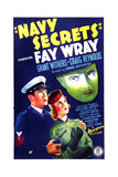 NAVY SECRETS, US poster, from left: Grant Withers, Loretta Young, 1939 Prints