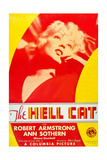 THE HELL CAT, US poster art, Ann Sothern, 1934 Print
