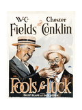 FOOLS FOR LUCK, W.C. Fields, Chester Conklin, 1928 Posters