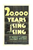 20,000 YEARS IN SING SING, US poster art, 1932 Print