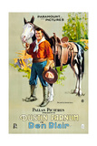 BEN BLAIR, Dustin Farnum with horse on 1-sheet poster art, 1916. Posters