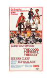THE GOOD, THE BAD AND THE UGLY, Clint Eastwood, Lee Van Cleef, Eli Wallach, 1966 Poster Art Affiche