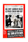 BIG TOWN AFTER DARK, US poster, from left: Richard Travis, Phillip Reed, Hillary Brooke, 1947 Prints