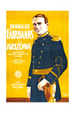 ARIZONA, Douglas Fairbanks on poster art, 1918. Print