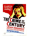 THE CRIME OF THE CENTURY, Jean Hersholt on midget window card, 1933. Prints