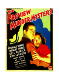 THE PREVIEW MURDER MYSTERY, Reginald Denny, Frances Drake on midget window card, 1936 Prints
