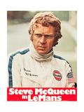 LE MANS, Steve McQueen on poster art, 1971. Poster