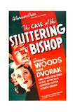 THE CASE OF THE STUTTERING BISHOP, US poster art, from top: Donald Woods, Ann Dvorak, 1937 Prints