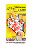 THE DEVIL'S HAND, bottom: Linda Christian on poster art, 1962. Prints